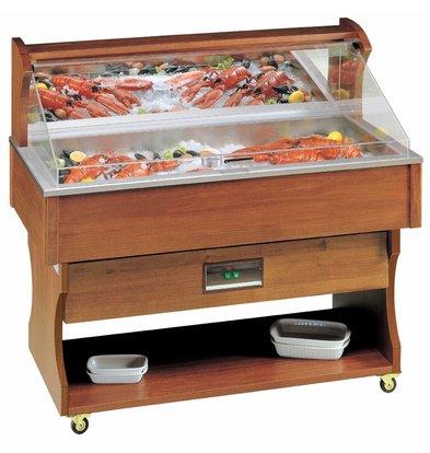 Diamond Mobile Fish Refrigerated display case | Vistoog | Solid Wood | 230V / 910W | 2057x745x1285 / 1605 (h) mm