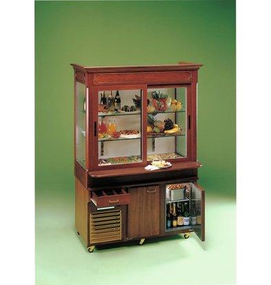Diamond Movable Cooling furniture including lighting. | 2 Sliding doors | + 4 ° + 10 ° C | 230V / 850W | 1520x920 / 1127x2167 (h) mm