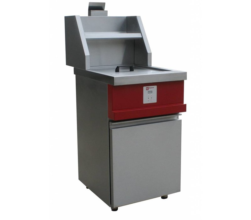 Diamond Electronic Gas Fryer | Round Bucket 13 Liter | Incl. Drain valve | 230V / 0,1kW | 535x875x940 / 1320 (h) mm