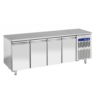 Diamond Coole Workbench - RVS - 4 Türen - 225x70x (h) 90 cm - 550 Liter