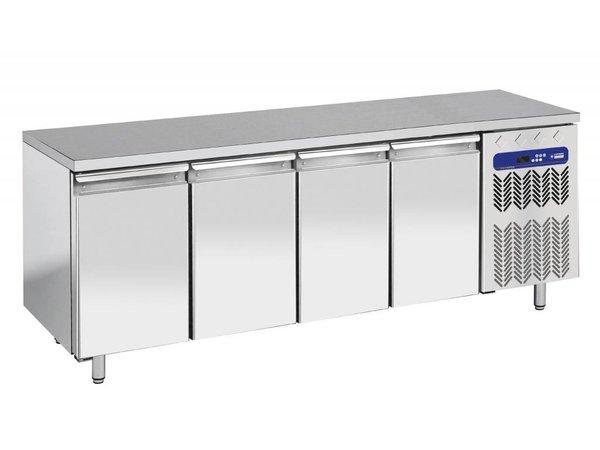 Diamond Koelwerkbank - RVS - 4 deurs - 225x70x(h)90cm - 550 Liter