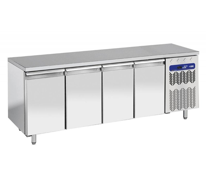 Diamond Cool Workbench - RVS - 4 door - 225x70x (h) 90cm - 550 Liter