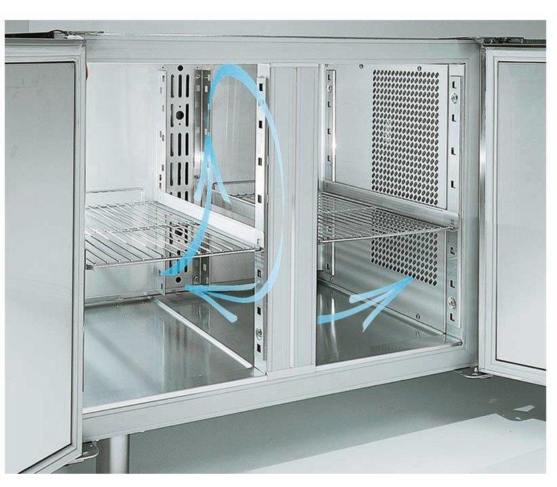 Diamond Cool Workbench - 2 Doors - 136x70x (h) 88 / 90cm - 1 / 1GN - 260 Liter