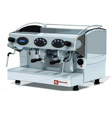 Diamond American Coffee Gruppe 2 | 2 Dampfkräne | 1 Warmwasserhahn | 3,3kW | 677x580x (H) 523mm
