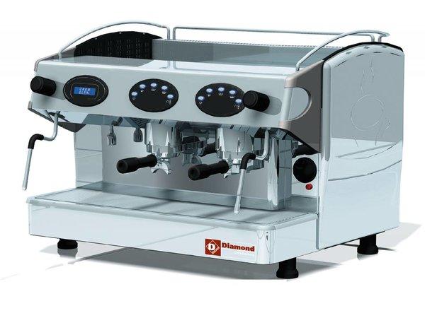Diamond American Coffee Gruppe 2 | 2 Dampfkräne | 1 Warmwasserhahn | 3,3kW | 677x580x (H) 523mm