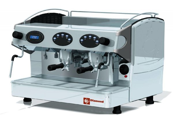 Diamond Koffiemachine 2 groep Automatisch | Display | 3,3kW | 677x580x(H)523mm