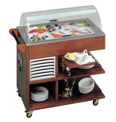 Diamond Mobile Fish Refrigerated display case | Solid Wood | -1 ° to 0 ° C | 230V / 300W | 1008x555x1066 (h) mm