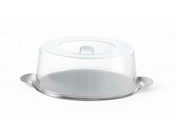 Hendi Kuchen Kuppel mit Edelstahl-Hochebene | Ø300x (H) 110mm