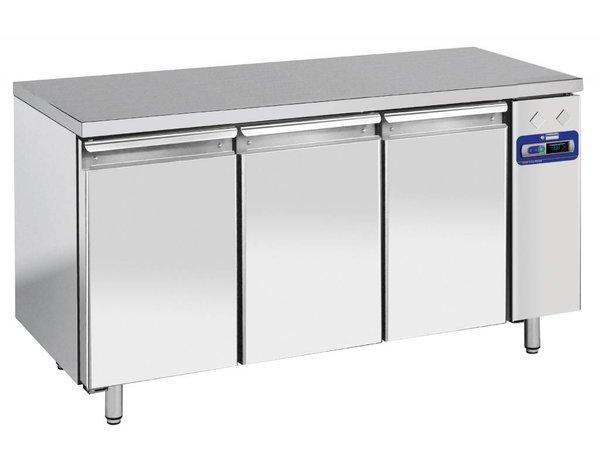 Diamond Cool Workbench - RVS - 3 Doors - 160x70x (h) 88cm - 405 Liter - DELUXE