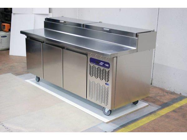 Diamond Cool Workbench 3 doors - wheels purposely cooling - 205x86x90cm