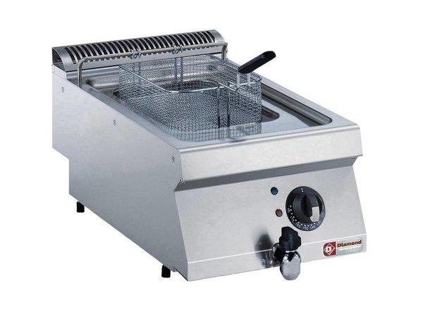 Diamond Friteuse Gas RVS   7 Liter   Met Koudezone   120°C en 190°C   400x700x250/320(h)mm