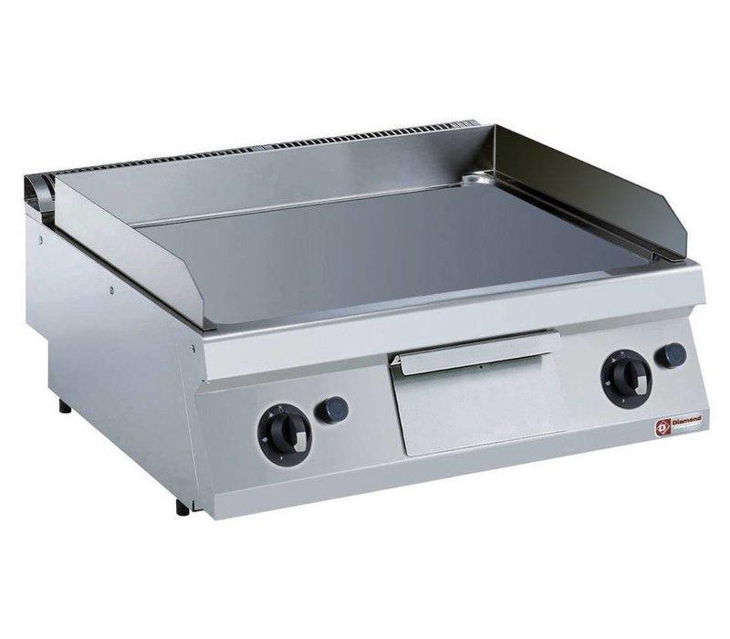 Diamond Kookplaat Gas RVS | Glad | Verchroomde Plaat | 130°C tot 300°C | 800x700x250/320(h)mm