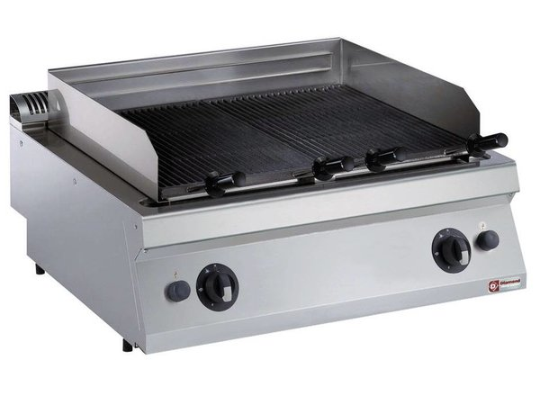 Diamond Lava Stone grill Gas SS | tabletop | Grate 730x540mm | 800x700x250 / 320 (h) mm