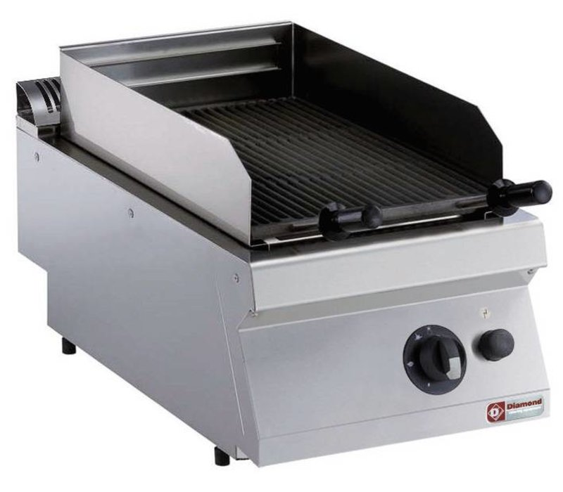Diamond Lava Stone grill Gas SS   tabletop   Grate 330x540mm   400x700x250 / 320 (h) mm