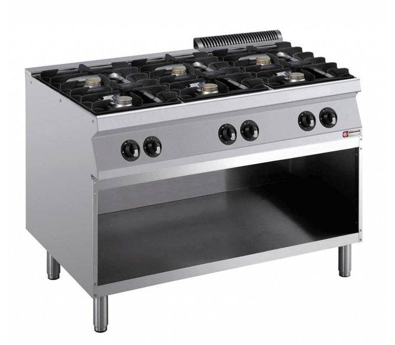 Diamond stove   6 Burners   5.5 kW   Open Cupboard   1200x700x (h) 850 / 920mm