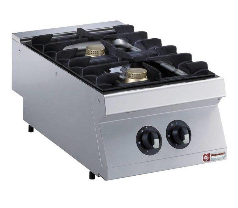 Diamond Tabletop stove | 2 burners | 5,5kw | 400x700x (H) 250mm