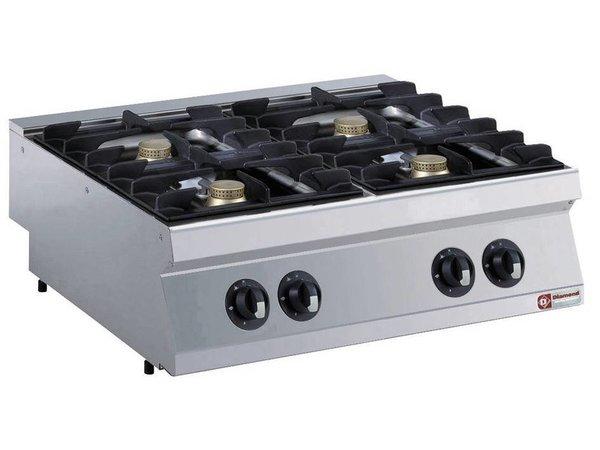 Diamond Tabletop stove | 4 burners | 5,5kw | 800x700x (H) 250mm