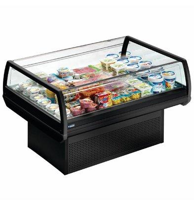 Diamond Kühlvitrine - schwarz - Cafeteria - 96x (h) 92cm Erhältlich in zwei Breiten