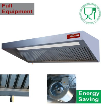 Diamond Extractor Hood Complete with Motor, Lighting - 900x (h) 460mm - Choice of 4 Sizes