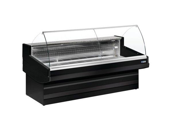 Diamond Zähler Schwarz Elegance Plus - gebogener Glas - 1040x (h) 1200 mm Erhältlich in vier Breiten