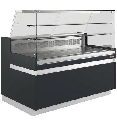 Diamond Toonbank Metrika Line Zwart - 890x(h)1182mm in 6 Breedtes