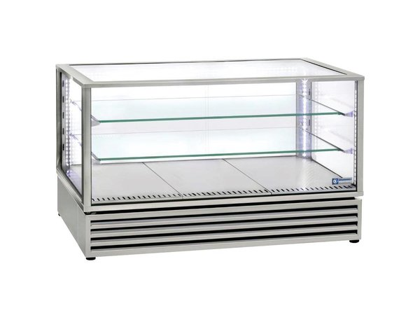 Diamond Tischkühlvitrine LED-Licht - Edelstahl - 3 Stufen - 1185x650x (H) 735mm