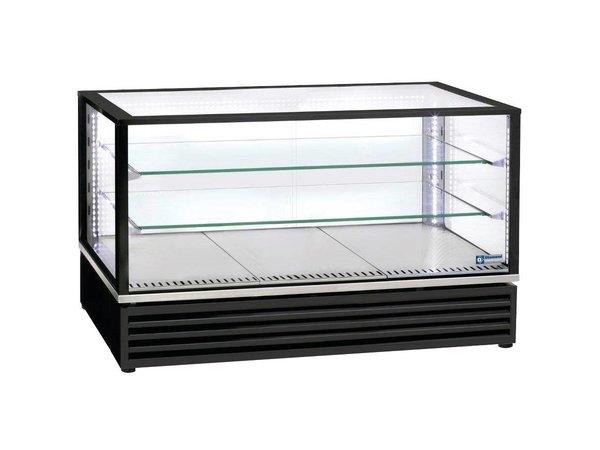 Diamond Tischkühlvitrine LED-Licht - Schwarz - 3 Ebenen - 1185x650x (h) 735mm
