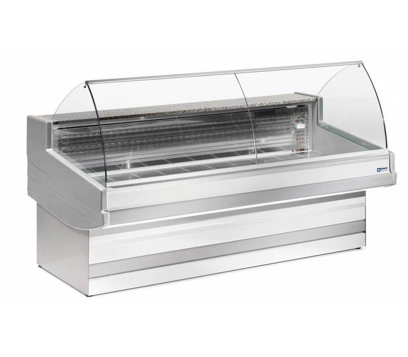 Diamond Zähler Elegance Plus - gebogener Glas - 1040x (h) 1200 mm in 3 Breiten