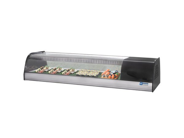 Diamond Sushi Vitrine 6 x 1 / 3GN - 1380x415x (h) 270mm