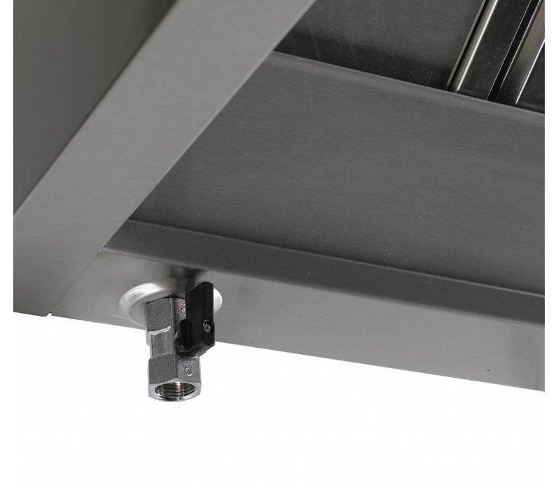 Diamond Wand Edelstahl Dunstabzug Gastro - Motor separat erhältlich - 950x (H) 400mm - Wahl von 7 Größen