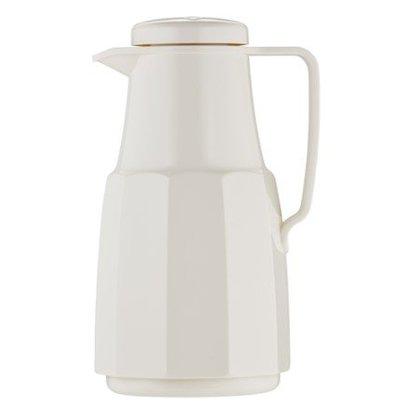 Emga Isoleerkan Kunststof Wit | Glazen Binnenpot | 1 Liter