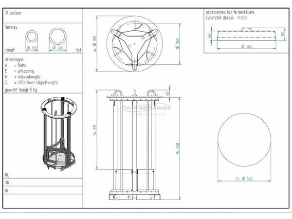 Combisteel Bordenlift 400mm   voor Borden met een Diameter van 180-260mm