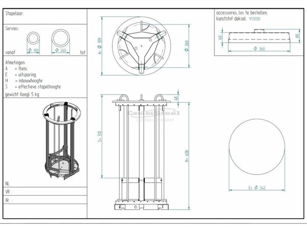 Combisteel Signs Elevator 400mm | for Plates with a diameter of 180-260mm