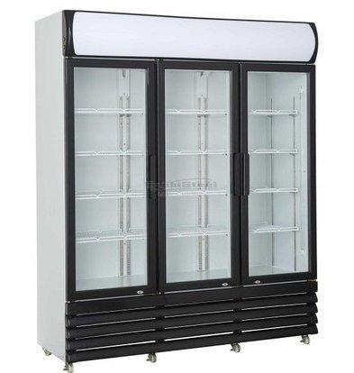 Combisteel Kühlschrank 3 Glastüren | 1065 Liter | Static mit Fan | 1600x610x1973 (h) mm