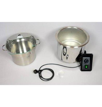 Mobile Containing Nun Suppe Edelstahl Einbau | Mobil enthalten | Inkl. Pan 9 Liter | 400W