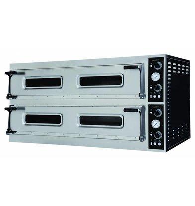 Combisteel Pizzaofen Elektrisch Doppel - Pizza 35 cm - 18 Stück - 1500x1314x (h) 745mm