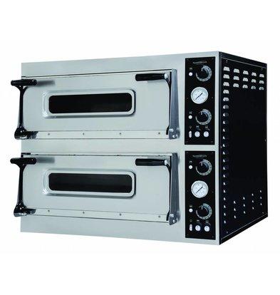 Combisteel Pizza Oven Elektrisch Dubbel - Pizza 40 cm - 8 stuks - 1100x1074x(h)745mm