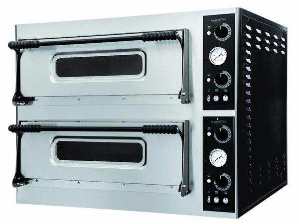 Combisteel Pizzaofen Elektrisch Doppel - Pizza 32 cm - 12 Stück - 975x1214x (h) 745mm