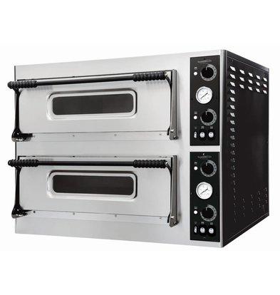 Combisteel Pizza Oven Elektrisch Dubbel - Pizza 32 cm - 8 stuks - 975x924x(h)745mm