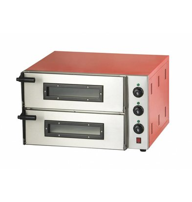 Combisteel Pizza Oven Electric Double - Pizza 45 cm - 2 pieces - 685x675x (h) 430mm
