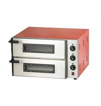 Combisteel Pizza Oven Elektrisch Dubbel - Pizza 45 cm - 2 stuks - 685x675x(h)430mm
