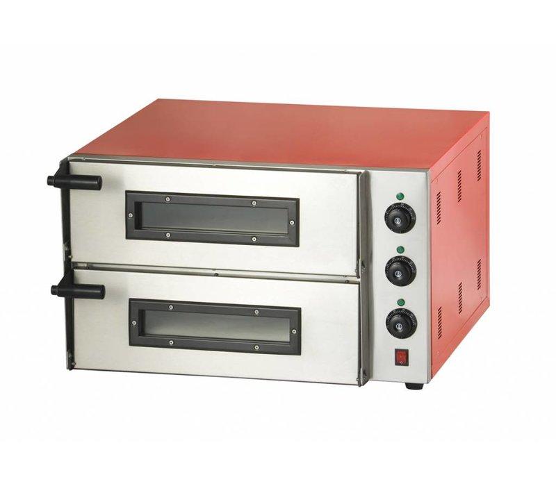 Combisteel Pizzaofen Elektrisch Doppel - Pizza 45 cm - 2 Stück - 685x675x (h) 430mm