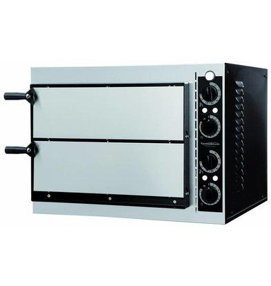 Combisteel Pizzaofen Elektrisch Doppel - Pizza 32 cm - 2 Stück - 568x500x (h) 430mm