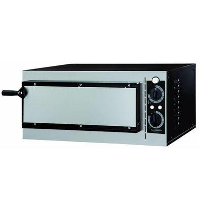 Combisteel Elektrischer Ofen Pizza - Pizza 32 cm - 1 Stück - 568x500x (H) 280mm