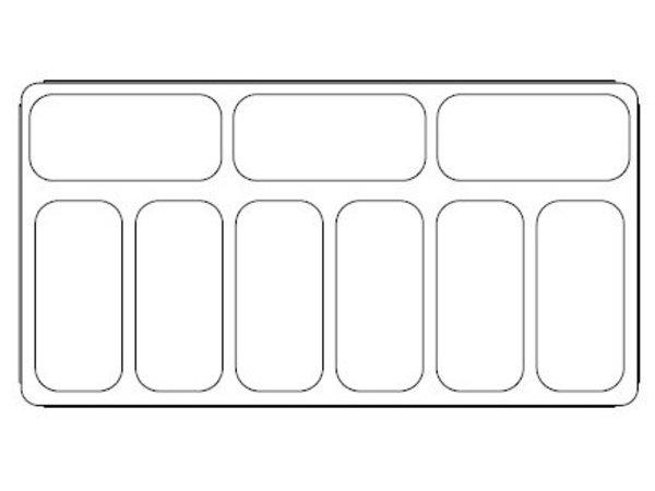 Combisteel Scoop Eis Anzeige gedruckt - 9 x 5 Liter - 1314x694x (h) 1315mm