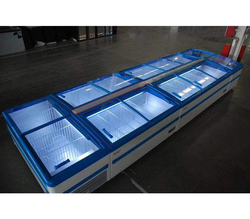 Combisteel Supermarkt Gefrierschrank Shutterbrille - Nutzung oder Los Verknüpfbar - 1820x900x (h) 835mm