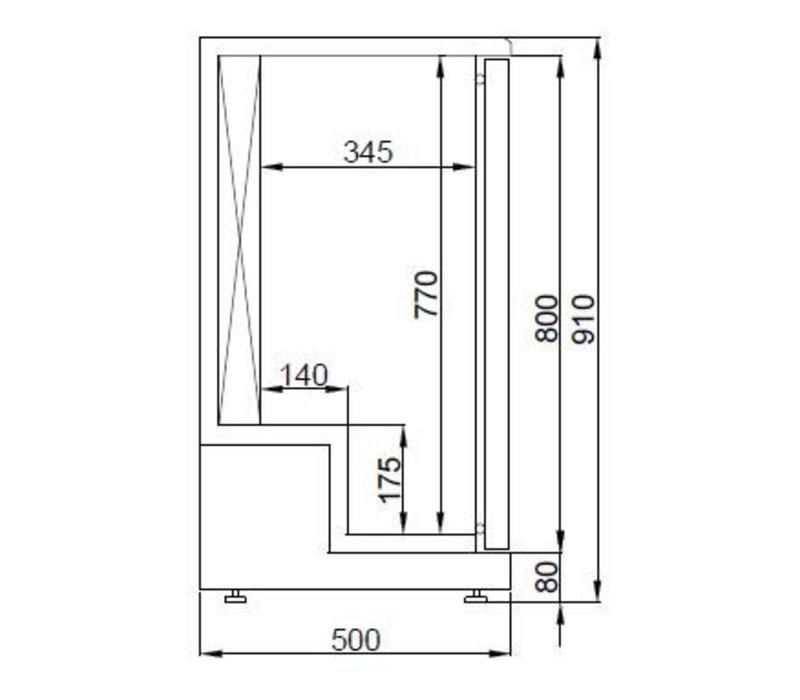 Combisteel Dry Kühlschrank Alter - 198 Liter - -3 / + 5 Grad - 920x550x (h) 910mm