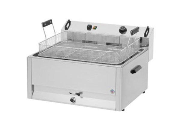 Combisteel Fritteuse   Elektro   Bäckerei Fisch und Oliebollen   30 Liter   400V   15kW   560x540x (H) 370mm