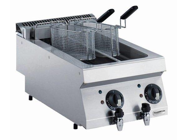 Combisteel Elektrische Friteuse 2 x 5 Liter - 9kw - 400V - 400x700x (h) 250mm