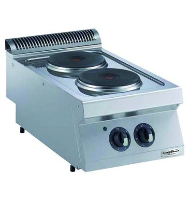 Combisteel Stove Electric 2 Burners - 2 x 2.6kw - 400v - 400x750x (h) 250mm